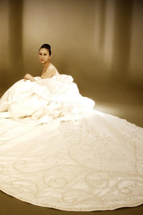 シルクサテン ウェディングドレス