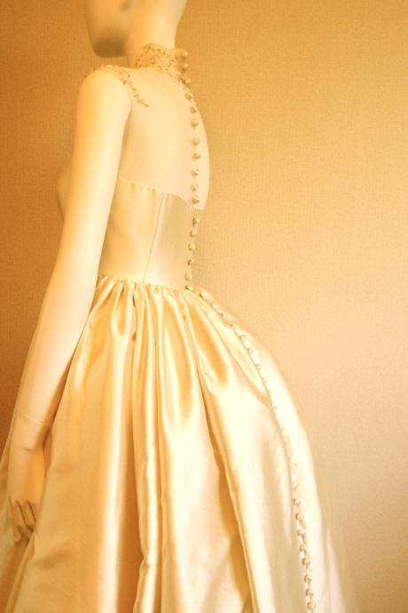 ミカドシルク ウェディングドレス