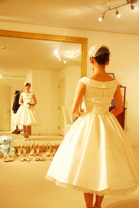 キュートなウェディングドレス