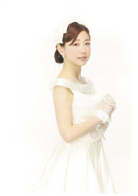 松尾翠ウェディングドレス