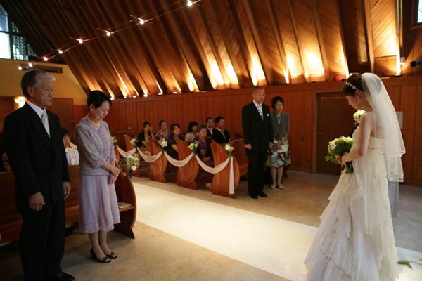 軽井沢高原教会 結婚式 写真