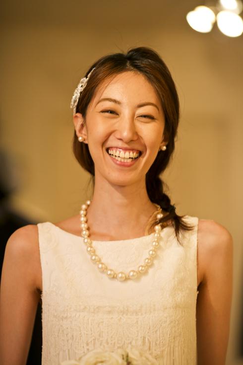 笑顔が素敵な花嫁
