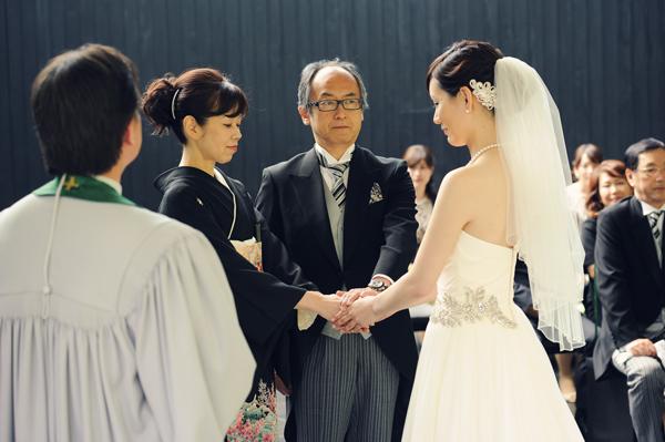 シフォン ウェディングドレス