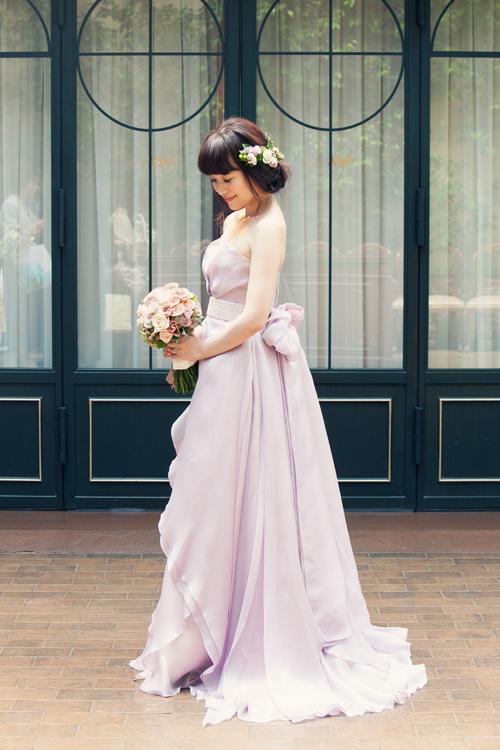オシャレ 紫 カラードレス