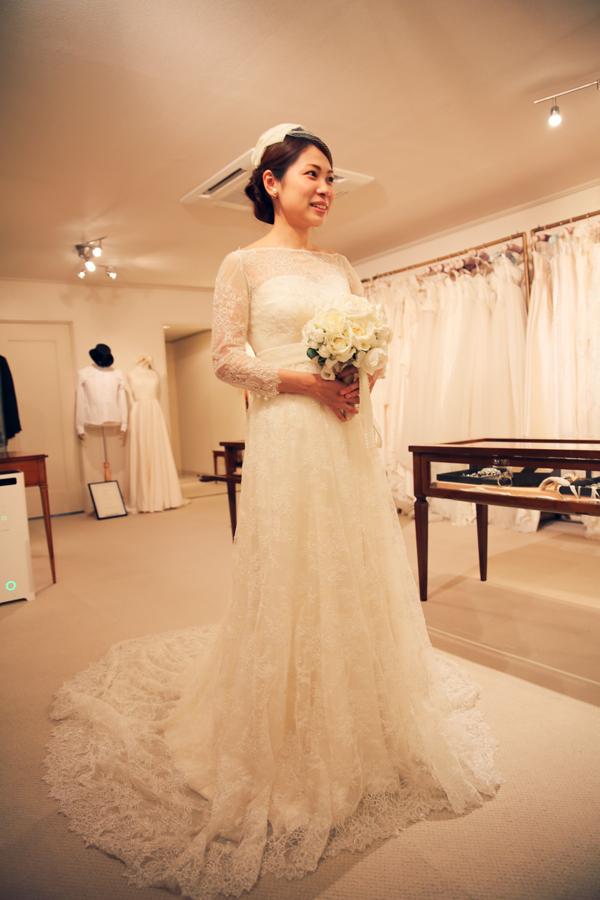 華やか 長袖 ウェディングドレス