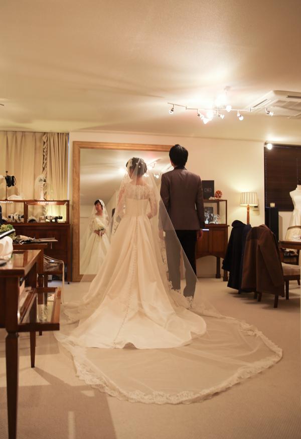 ロングスリーブ ウェディングドレス クラシカル