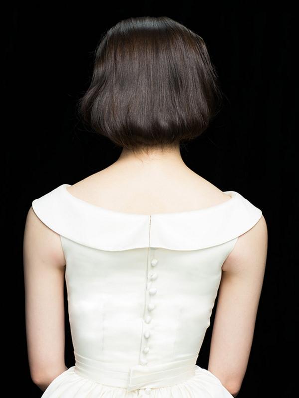 ショートヘア ウェディングドレス