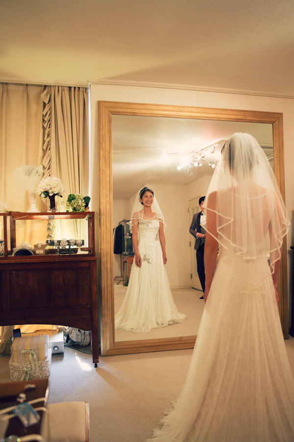 キャルバリー バイ ザ シー ウェディングドレス スレンダー
