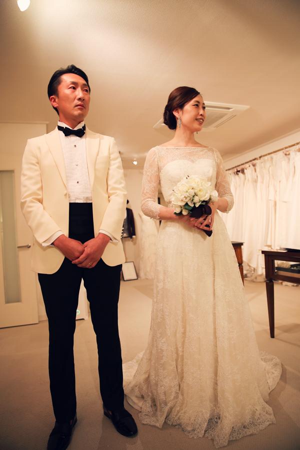 東京 ロングスリーブ お洒落 ウェディングドレス