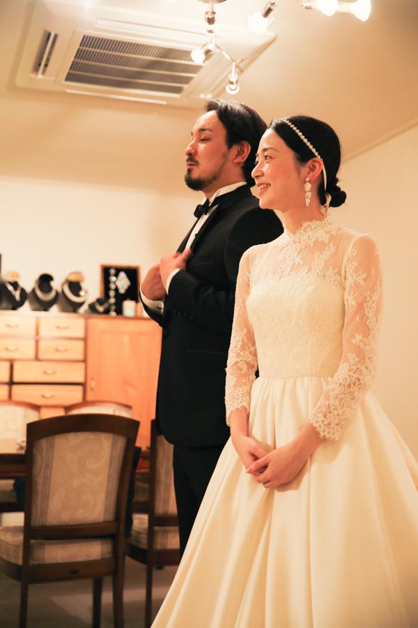 八芳園 クラシカル ウェディングドレス