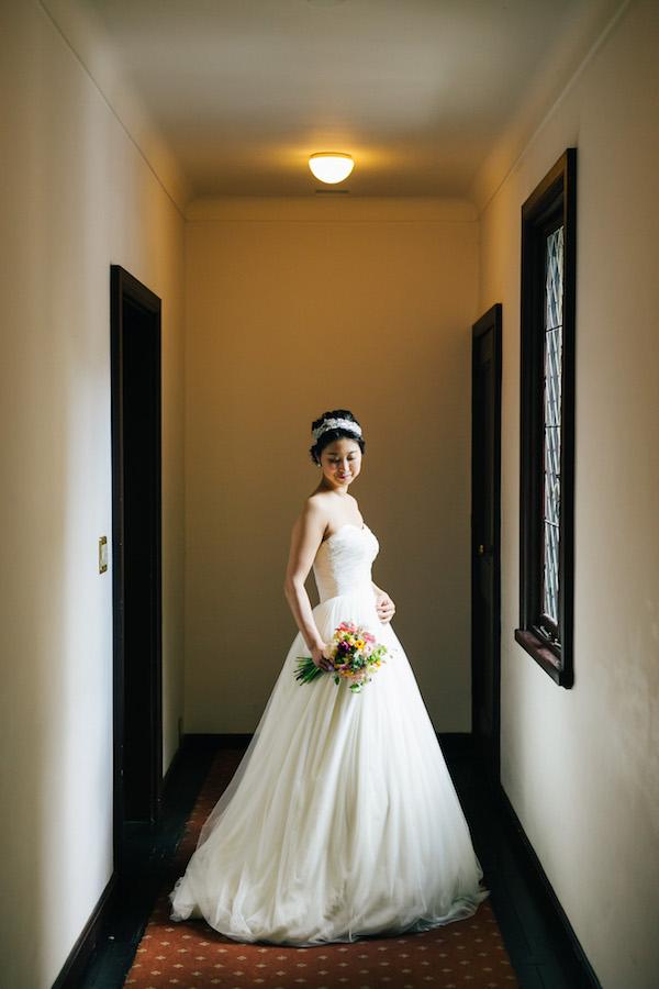 自然な広がり スカート ウェディングドレス