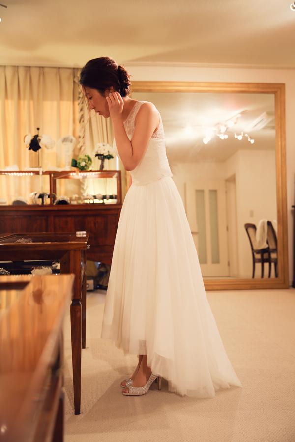 ミモレ丈 ウェディングドレス