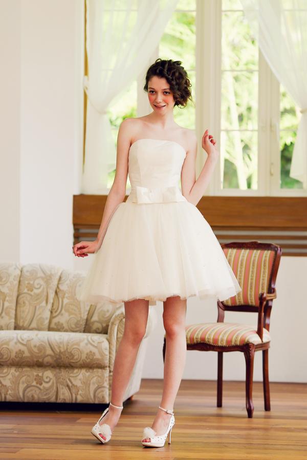 バレリーナ ミニ ウェディングドレス