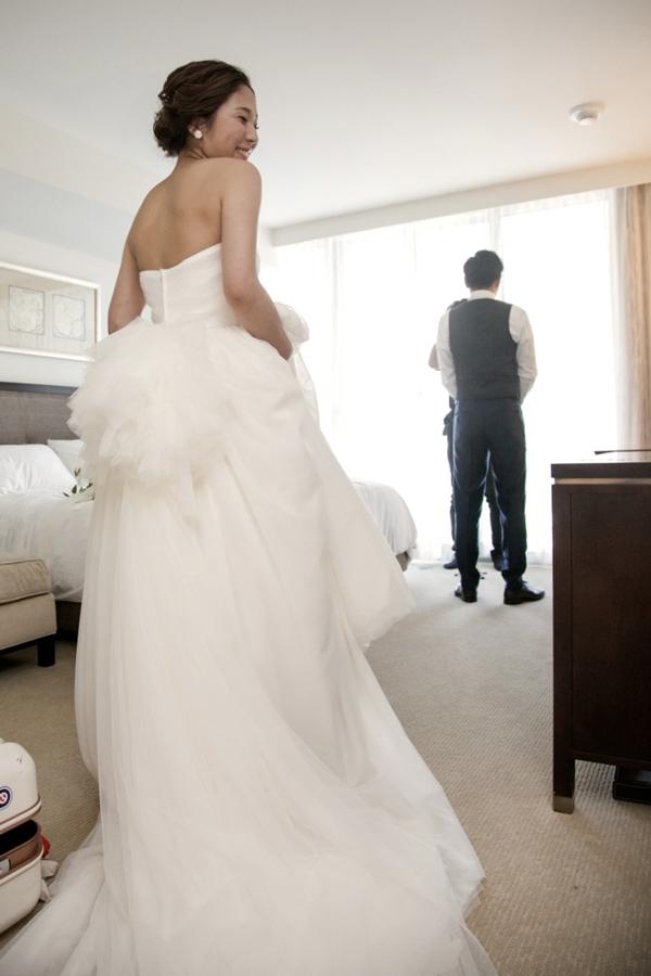 ふんわり チュール ウェディングドレス
