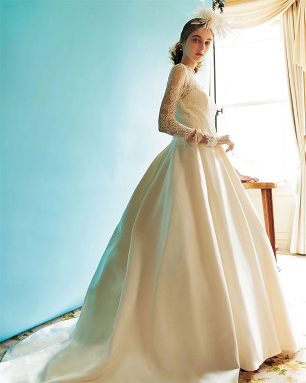 クラシック 長袖 ウエディングドレス