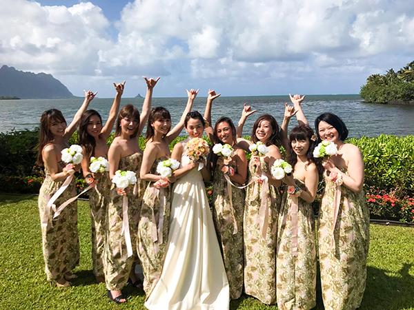 ビーチフォト ウェディングドレス ハワイ