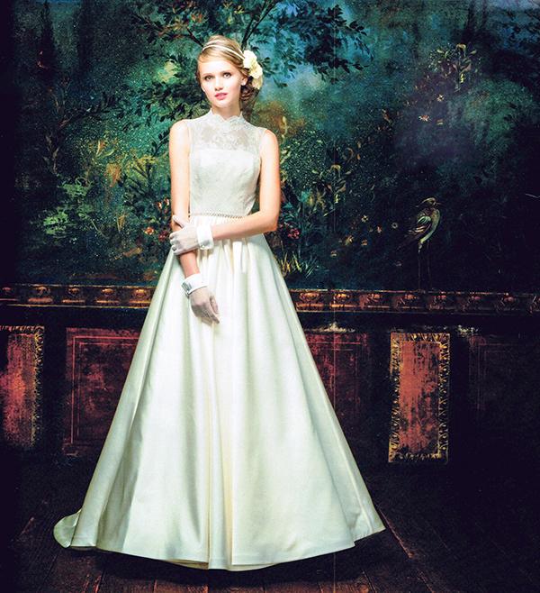 ウェディングドレス クラシカル ノースリーブ