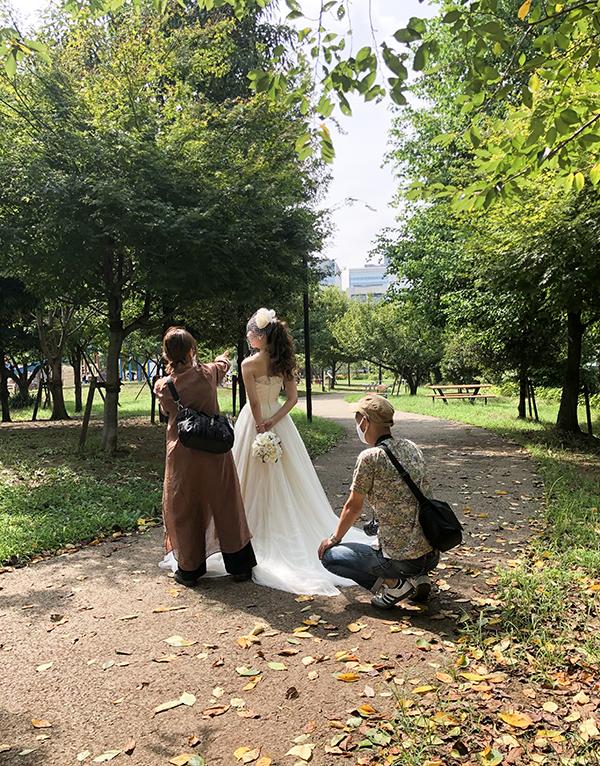 ウェディング 公園 撮影