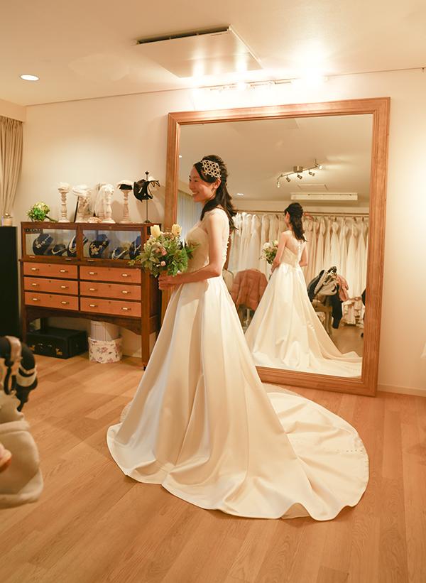 おしゃれ 花嫁 ドレス